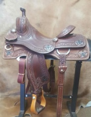 "15½""-KO Elite Cowhorse Saddle- KOE-2348B"