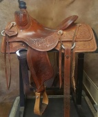 "15""-KO Elite Cowhorse Saddle- KOE-2122B"